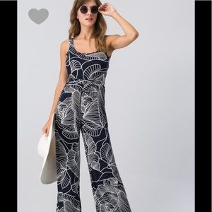 Pants - Tropical print sleeveless jumpsuit ( COMING )